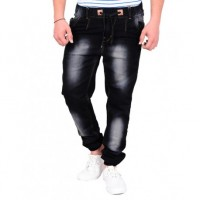 Styzon Regular Men's Black jogger Jeans