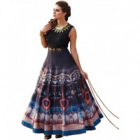 All new Blue banglori and multi colored printed gown