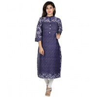 Nextar Blue Cotton Kurti