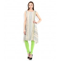 Multicoloured Cotton Straight Kurti
