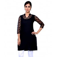 Black Cotton Kurti