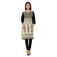 Attire Multi Color Cotton Straight Kurti