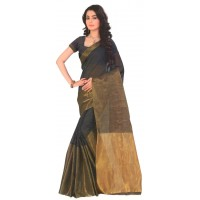 Supriya Black Cotton Silk