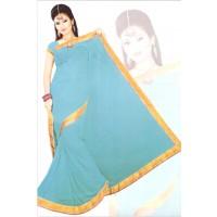 Divya Sky Blue Saree