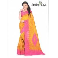Diva Yellow with Pink Border