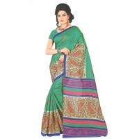 Diva Green Printed Saree