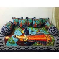 Akshya Superior Quality Premium Fashion Trendy Traditional Fancy 200 TC 8 Piece Cotton Single Diwan Set